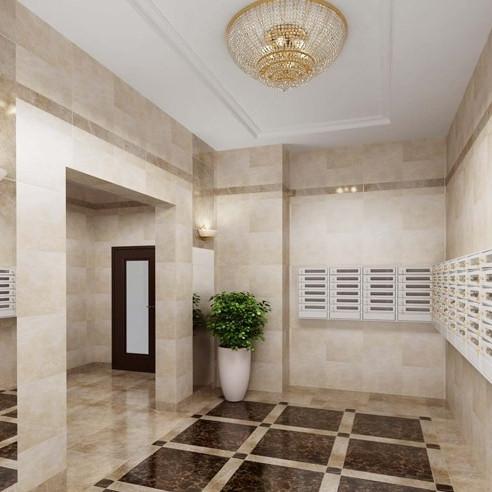 Жилой комплекс Небо Москвы отделка холлов